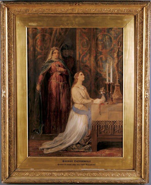 """13: GEORGE CATTERMOLE (British 1800-1868) """"Queen Elen"""