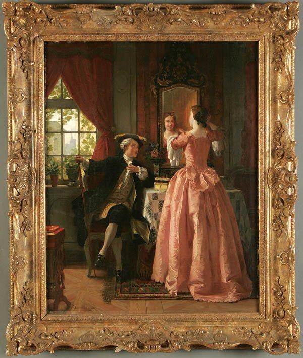 """14: JEAN CAROLUS (Belgian 1814-1897) """"Finishing Touch"""