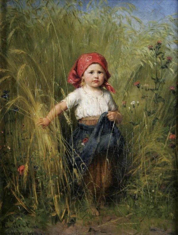 "16: HEINRICH HIRT (German 1841-1902) ""The Little Peas"