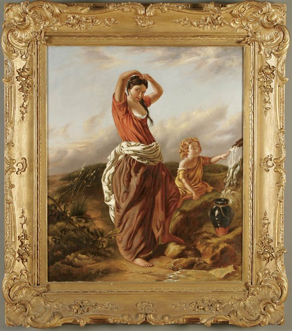 """19: CONTINENTAL SCHOOL (19th century) """"A Mother and C"""