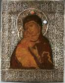 263 A RUSSIAN ICON The Vladimir Mother of God circa