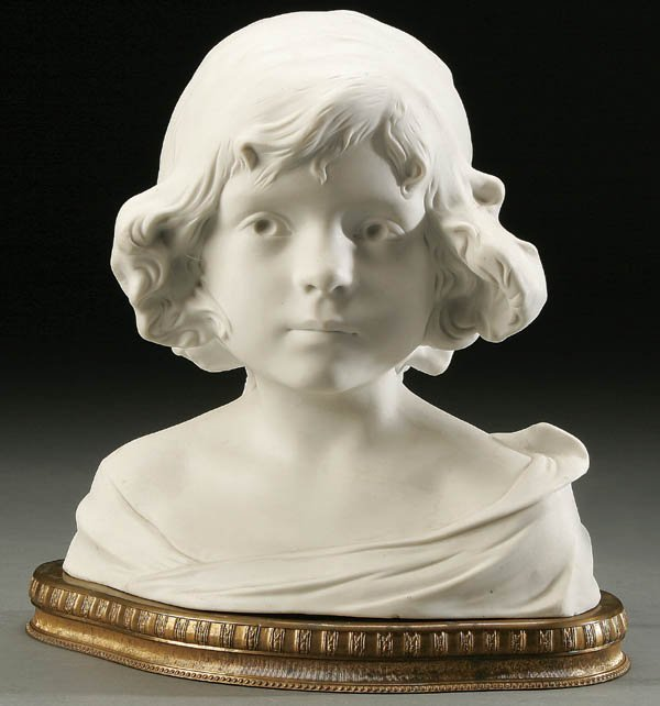 760: A VERY FINE 19TH CENTURY SEVRES STYLE BISQUE BUST