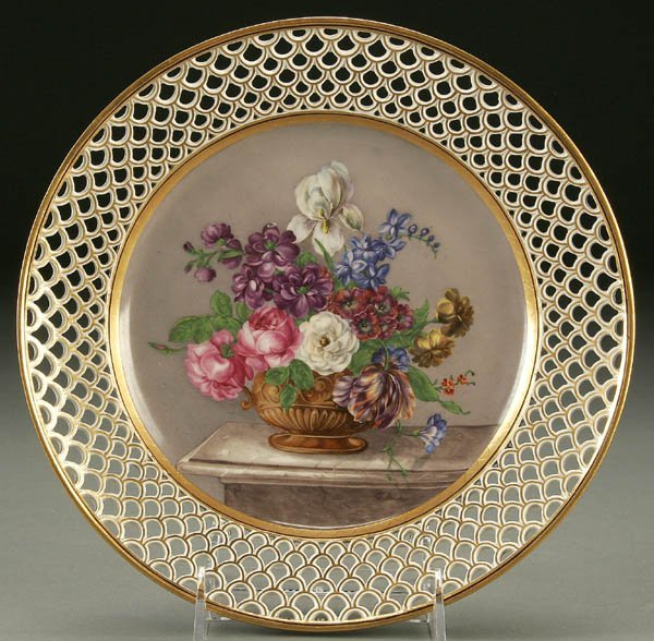 766: A FINE 19TH CENTURY VIENNA STYLE CABINET PLATE wi