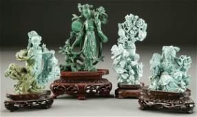 1518 A FINE CHINESE CARVED MALACHITE FIGURE 20th centu