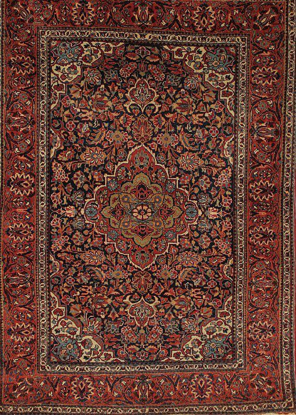 1541: A VERY GOOD HANDWOVEN PERSIAN KASHAM ORIENTAL RUG