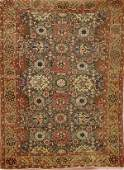 """A HANDWOVEN """"MAHAL"""" PERSIAN ORIENTAL RUG early 20"""
