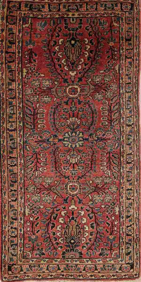 "1560: HANDWOVEN ""SAROUK"" PERSIAN ORIENTAL RUG circa 193"