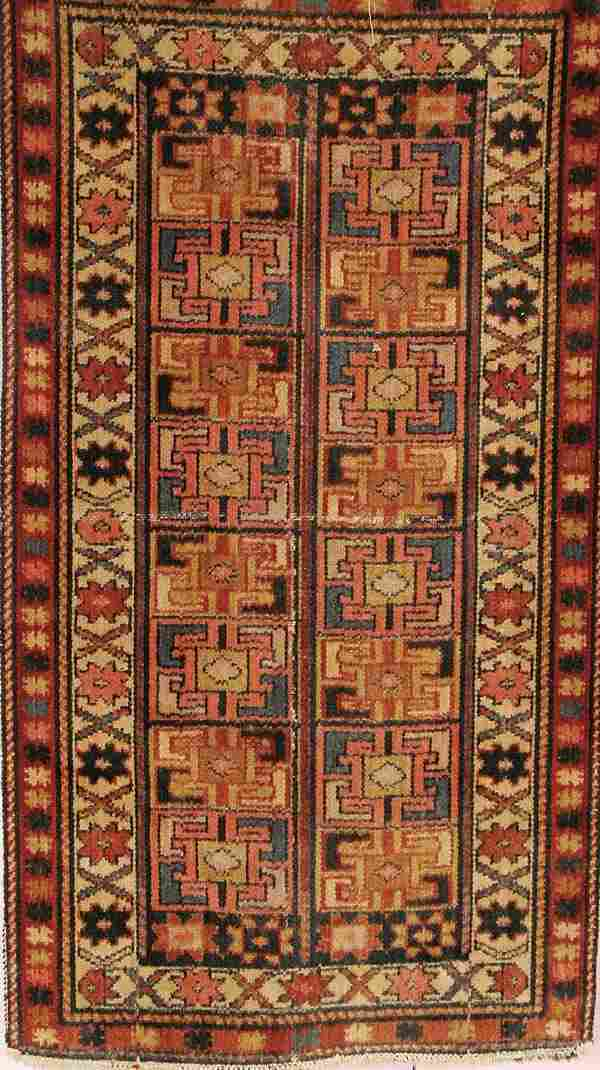 1566: A HANDWOVEN CAUCASIAN ORIENTAL RUG early 20th cen
