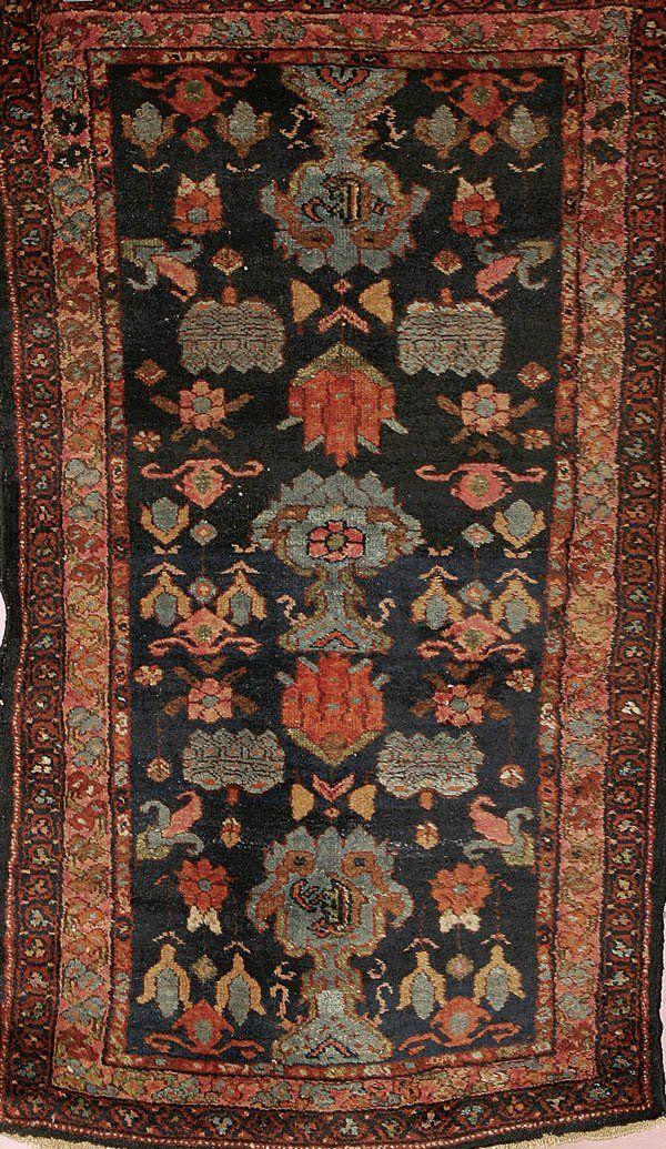 1570: HANDWOVEN PERSIAN HAMADAN ORIENTAL RUG good color