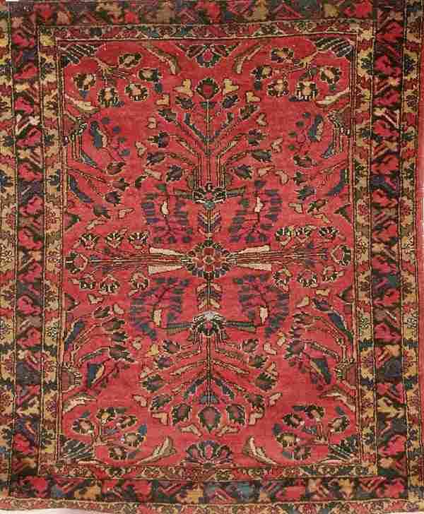 1572: HANDWOVEN LILLIHAN PERSIAN ORIENTAL RUG circa 192