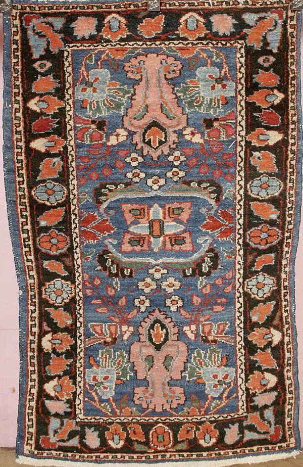 1602: NORTHERN PERSIAN HAND MADE ORIENTAL RUG good colo