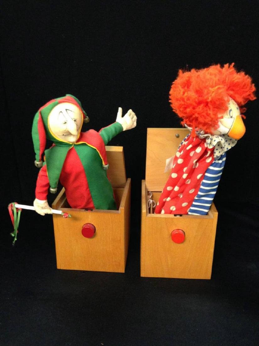 Pair of Jax Handmade Jack in the Box Jester and Clown