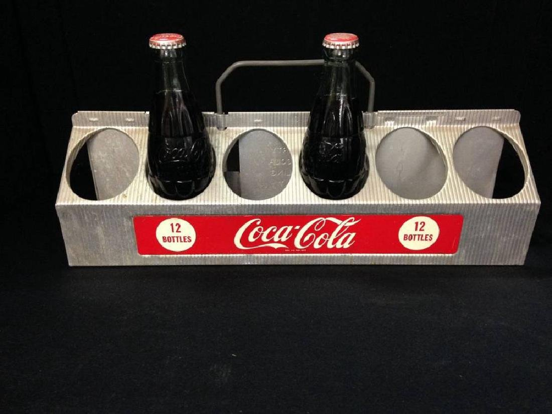 Coca Cola Metal Aluminum 12  Bottle Coke Bottle Carrier