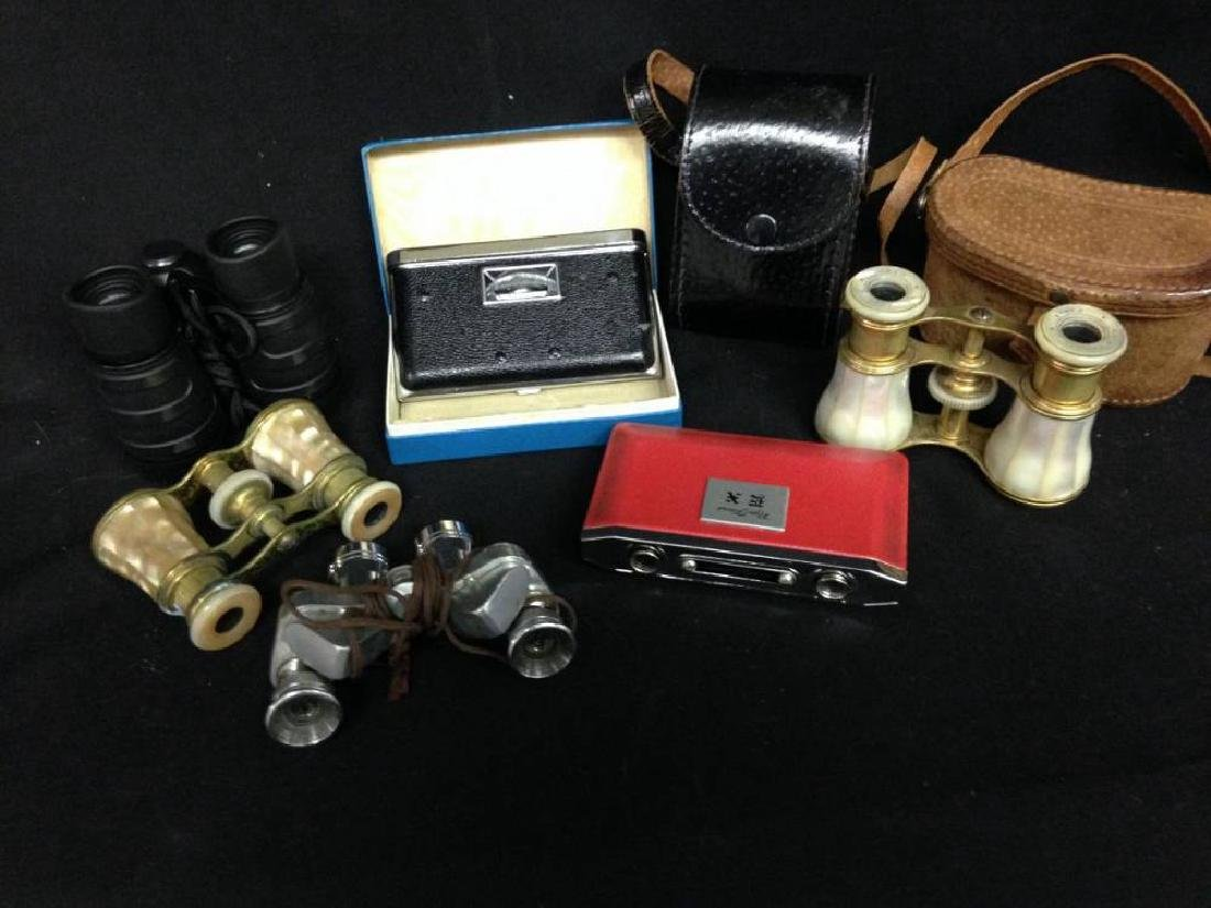 Lot Of Assorted Opera Glasses And Cases Lemaire