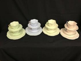 Set Of 8 Shelly Fine Bone China Dainty Scalloped Shape