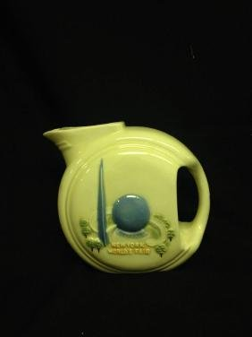 New York Worlds  Fair Pitcher Approx 7.5 Inches Tall