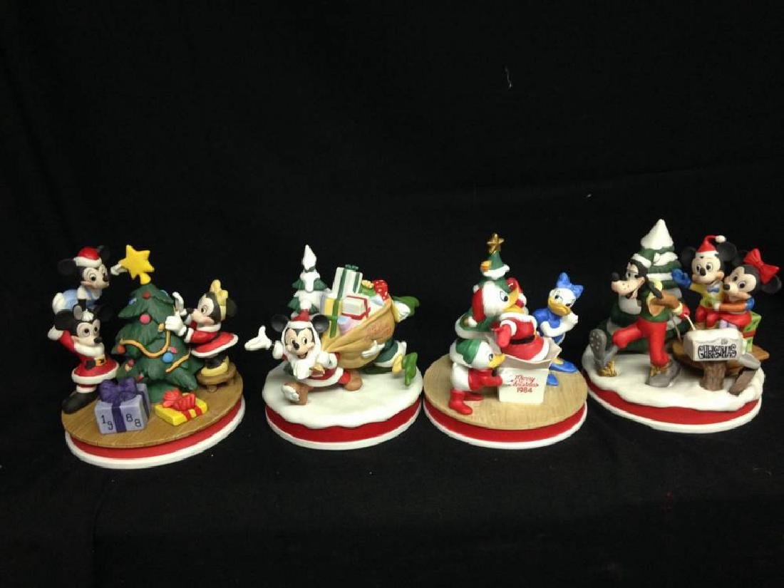 Lot Of 4 Disney Christmas Limited Edition Figures