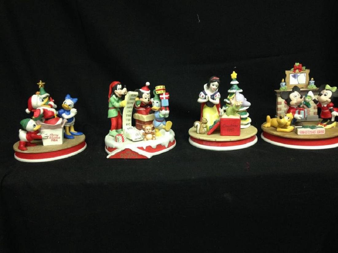 Lot Of 4 Disney Christmas Limited Edition Figures 1984