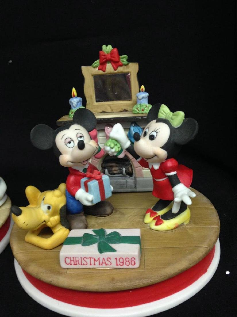 Lot Of 4 Disney Christmas Limited Edition Figures 1984 - 2
