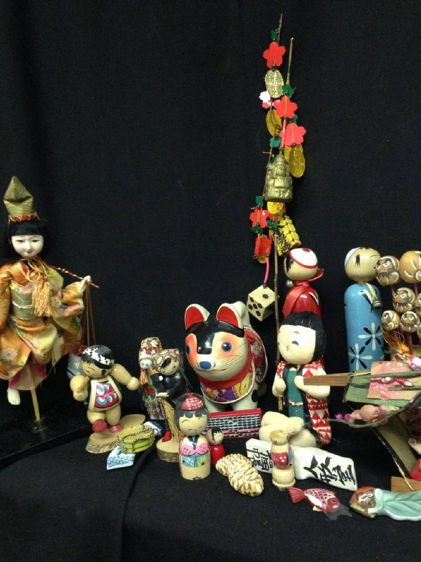 Lot Of Vintage Japanese Dolls And Figures - 3