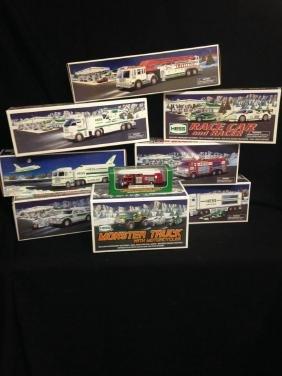 Lot Of 9 Hess Trucks