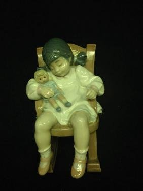 Lladro Naptime Porcelain Figurine Approx 4.5 Inches
