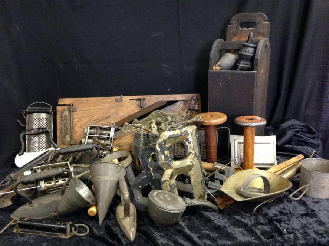 Lot Of Assorted Wood And Metal Primatives