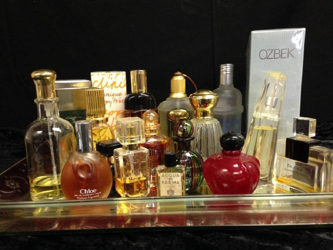 Lot of Assorted Perfume Bottles Used And Unused With