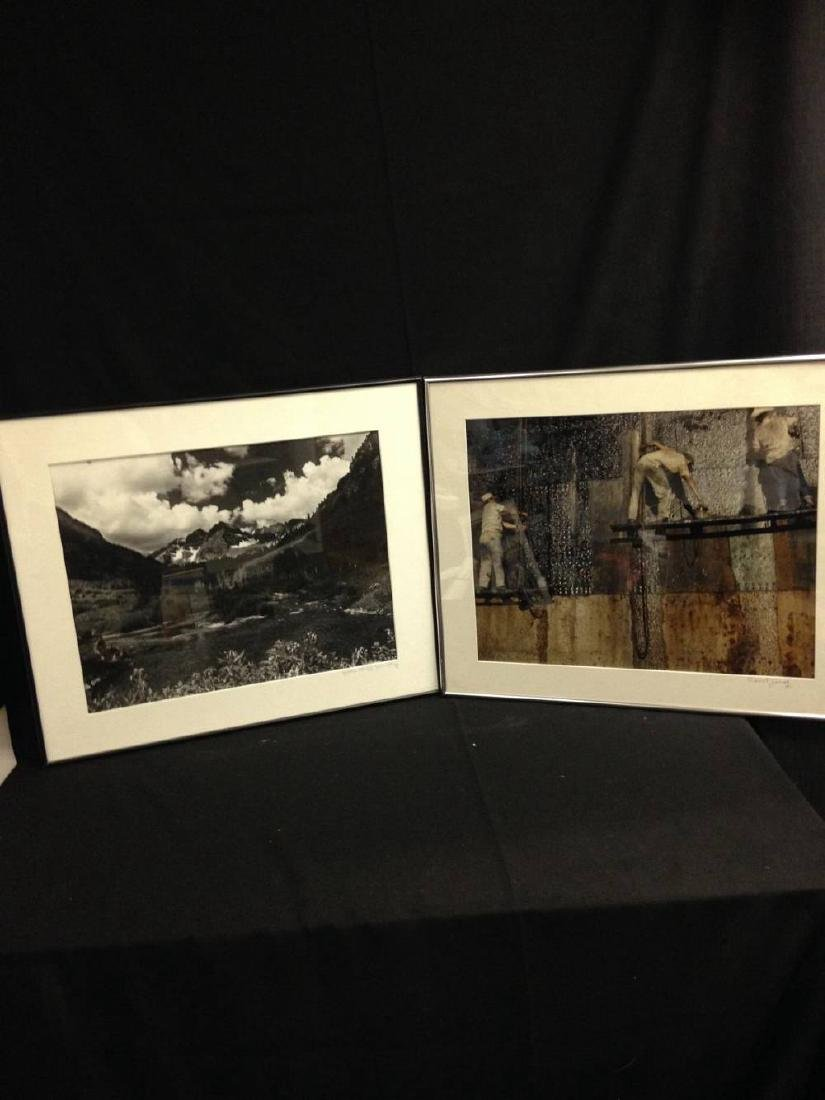 Pair Of  Framed Signed Zirinsky Photographs 24 x 20