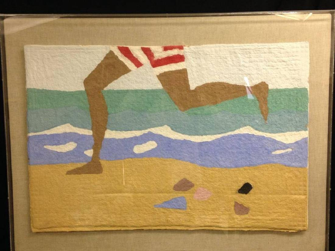 Dick Degroot  The Beach American 20 Century Lithograph