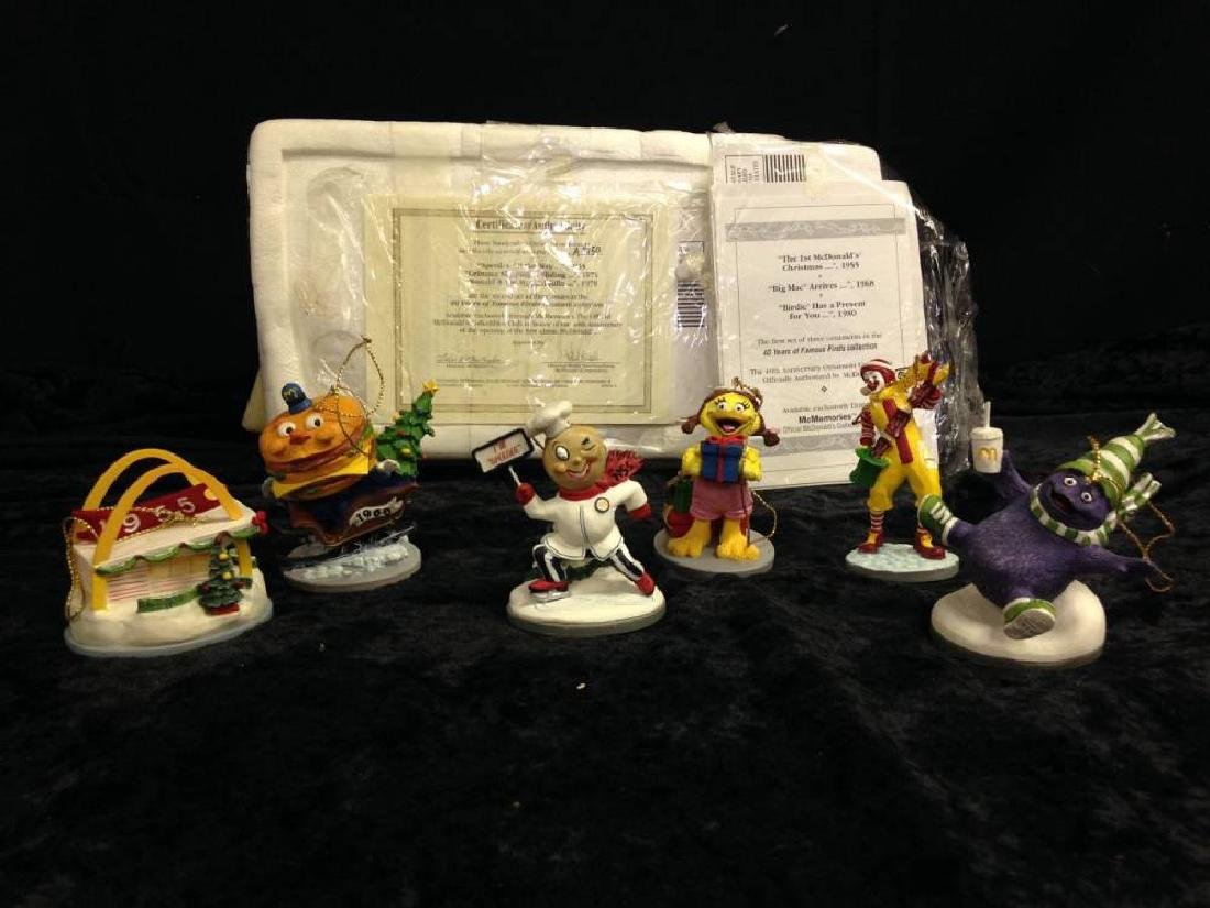 Lot Of 6 McDonalds Christmas Ornaments Speedee All The