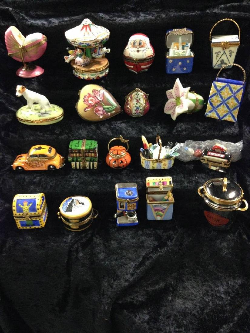 Lot Of 20 Limoges Trinket Boxes