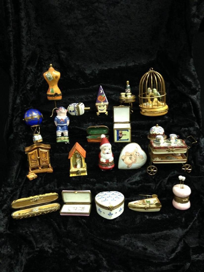 Lot Of 20 Limoges Trinket Boxes