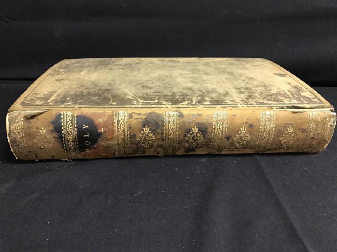 Antique Bible Circa 1701 Approx 17 x 11 - 2