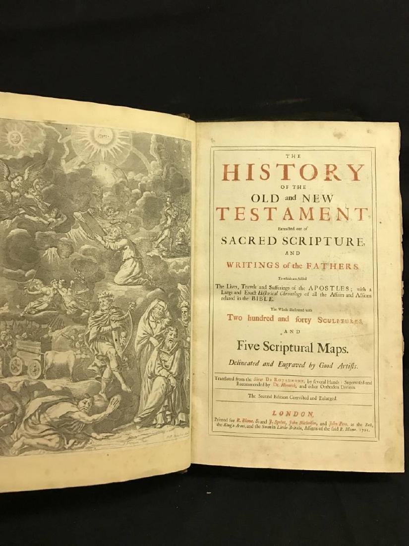 Antique Bible Circa 1701 Approx 17 x 11 - 3