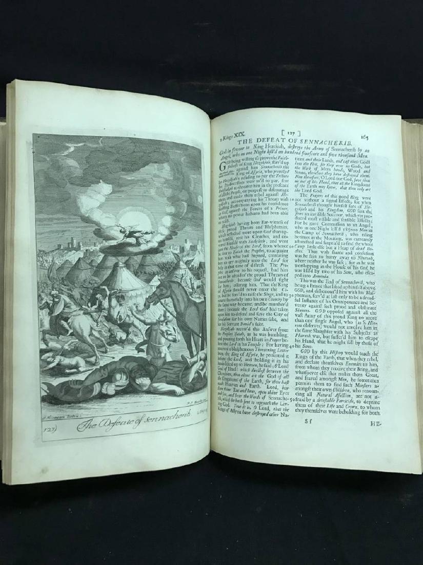 Antique Bible Circa 1701 Approx 17 x 11 - 4