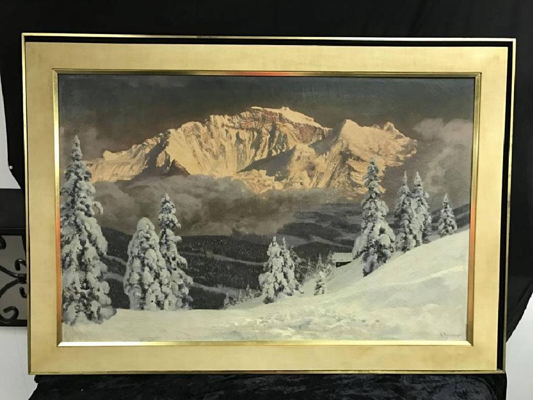Signed Alios Arnegger 1879 To 1987 Oil On Canvas Approx