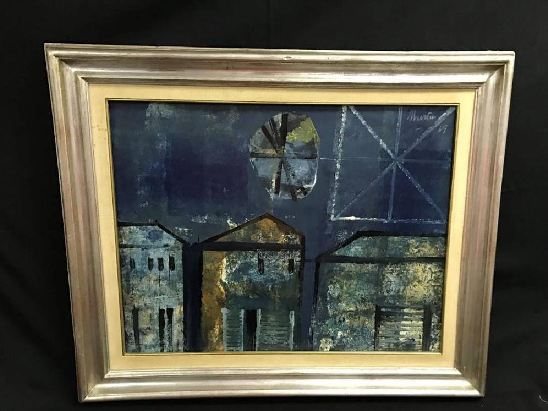 South American Oil Painting Signed Martin Approx 25.5 x