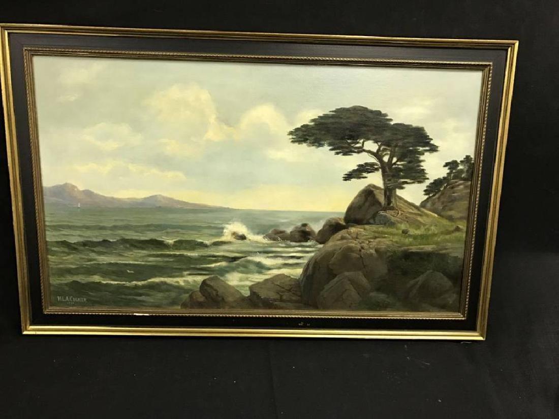 H L A Culmer Oil On Canvas Approx 23.75x 37.75