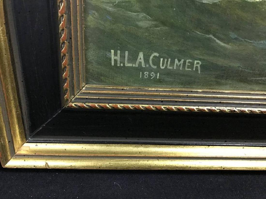 H L A Culmer Oil On Canvas Approx 23.75x 37.75 - 3