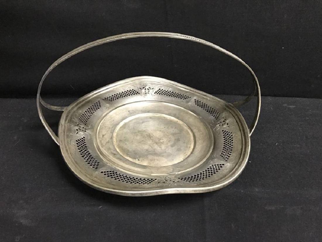 Sterling Silver Basket Approx 10.75 Diameter