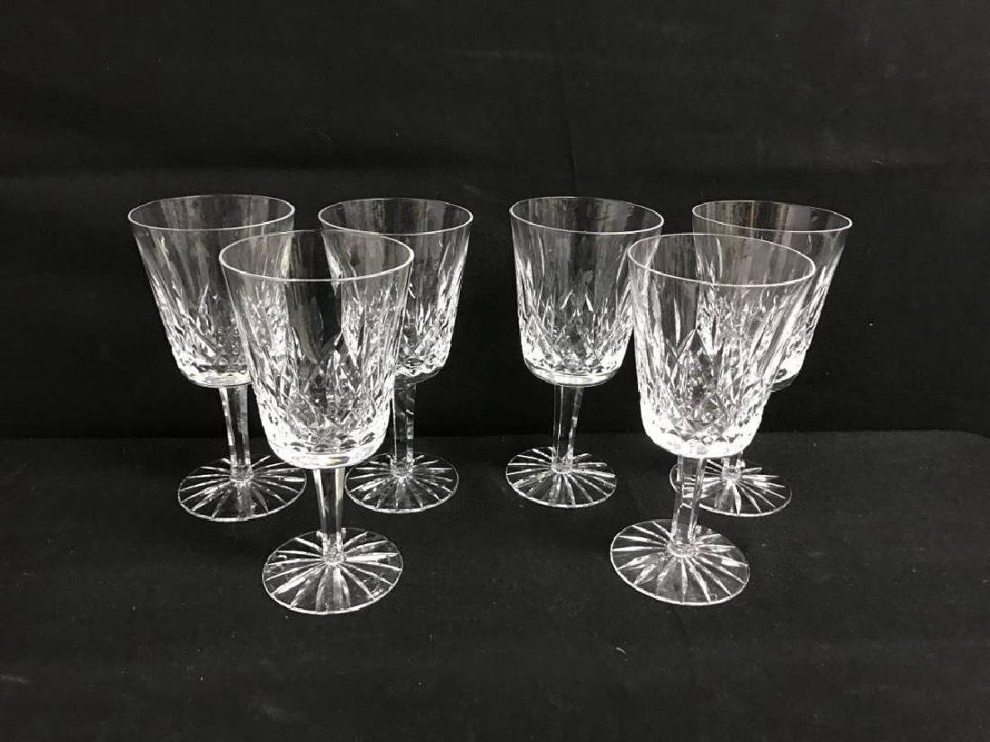 Lot Of 6 Waterford Lismore Water Goblets 7 Inches