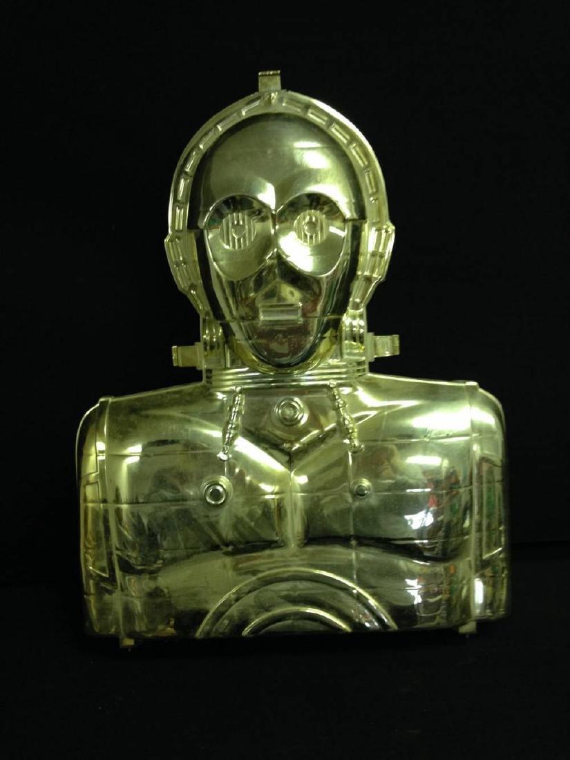 Vintage Star Wars Figures In C3PO Case