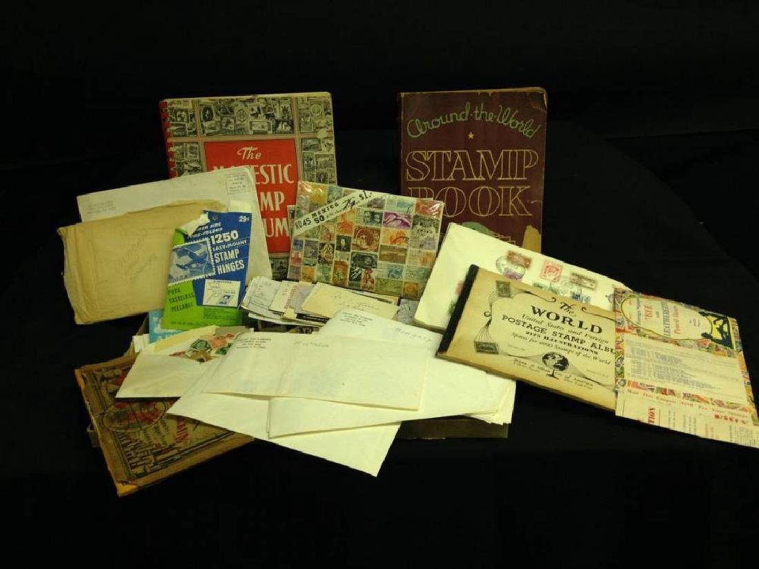 Lot Of Foriegn and American Stamps
