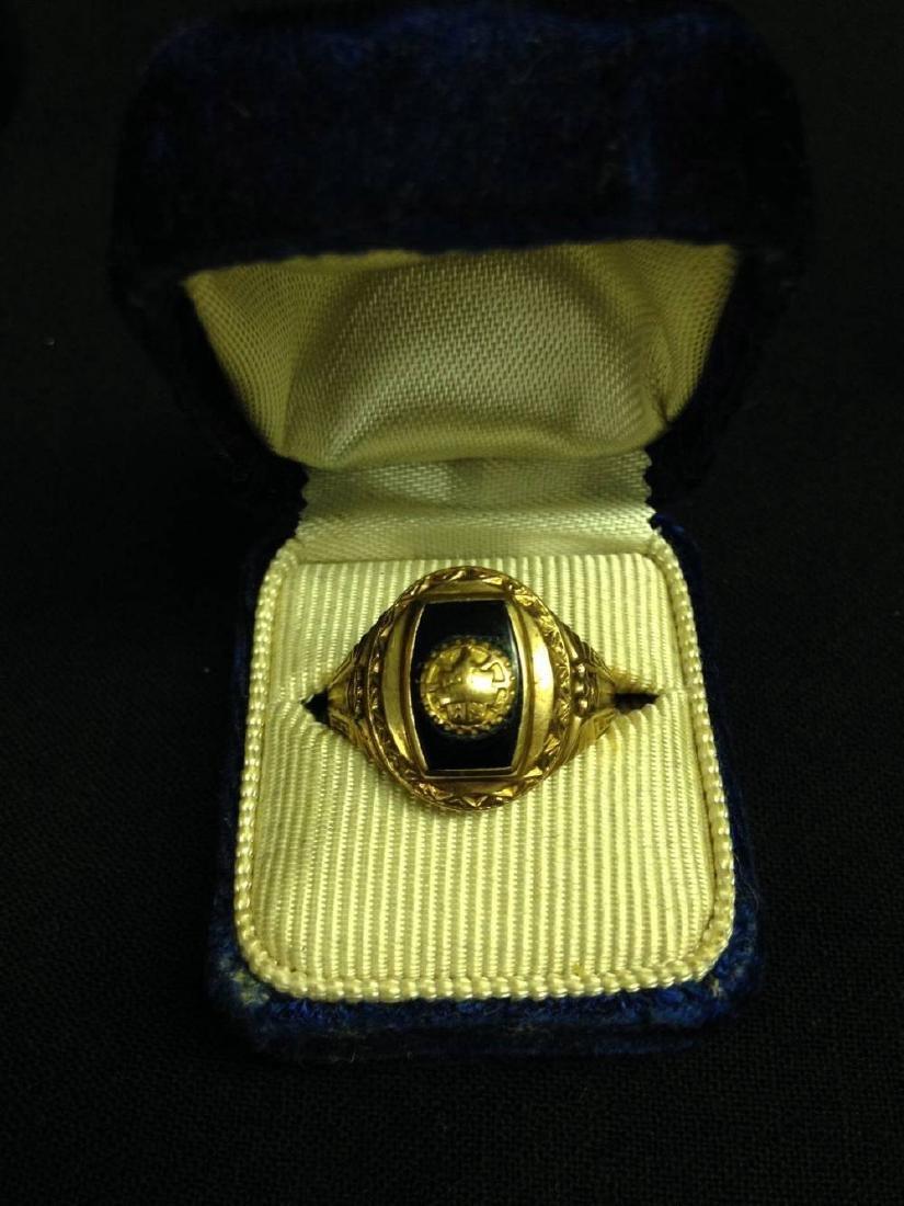 Vintage 1952 Engraved 10k Gold Ring Size