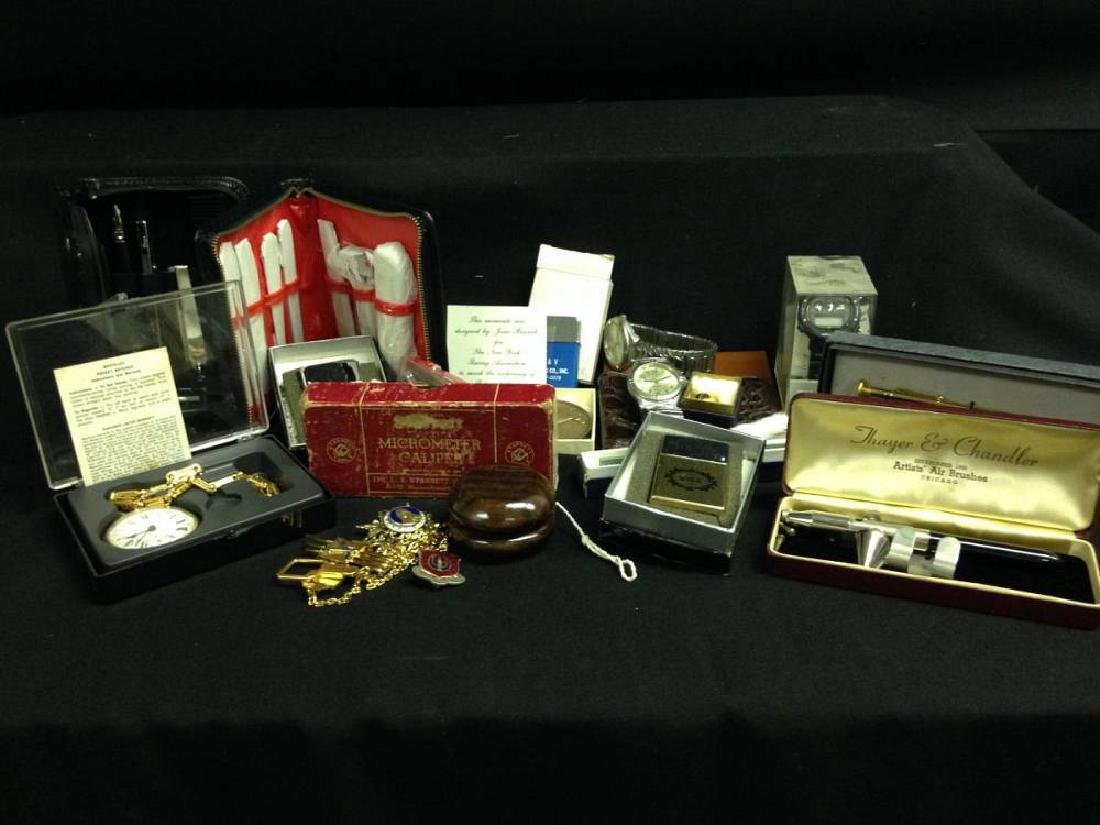 Lot Of Misceleneous Collectables Watches Wallets Pins