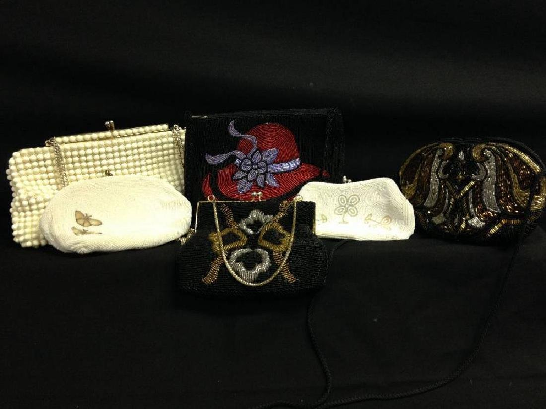 Lot Of 6 Vintage Beaded Evening Bags
