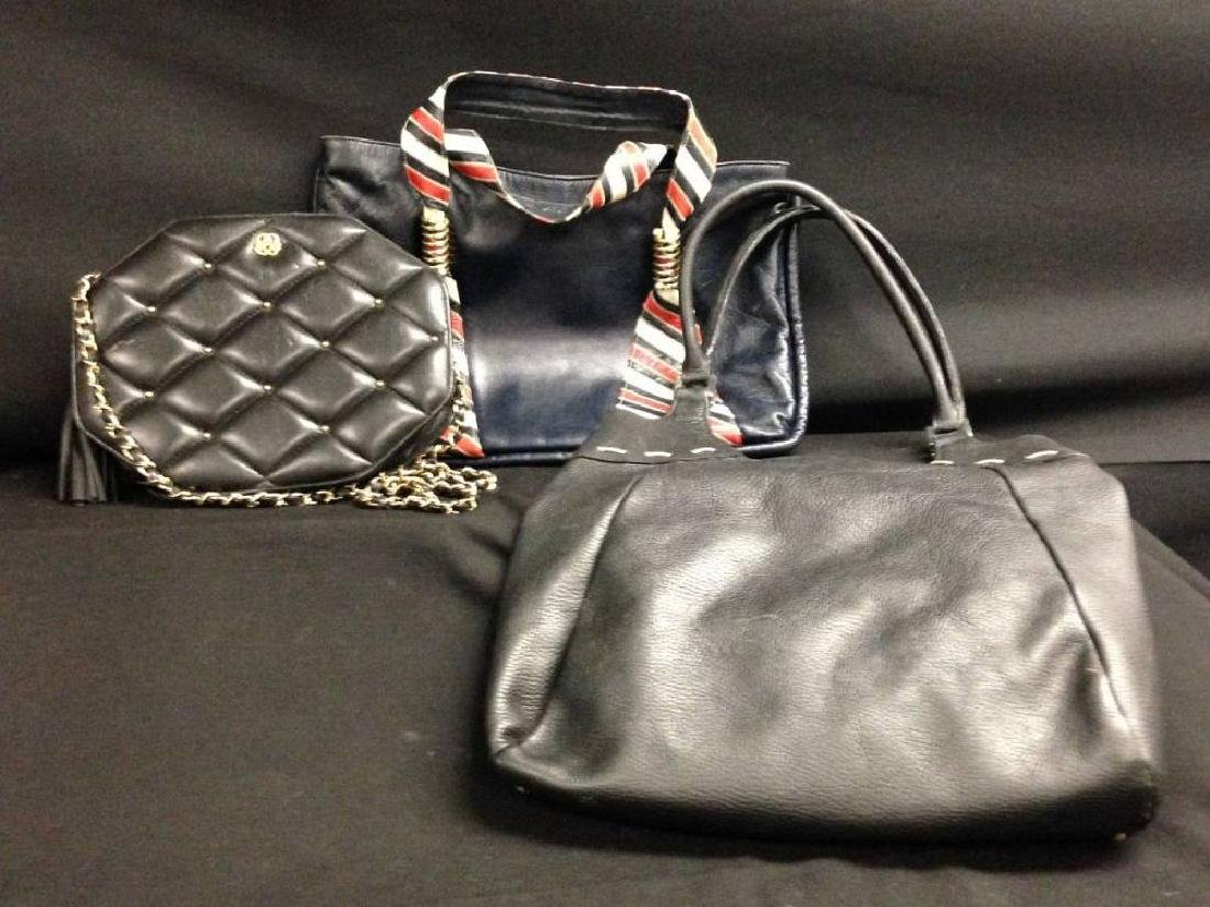 Lot Of 3 Vintage Leather Bags