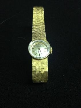 14k Gold Ladies Rolex Approx 7.75 Inches Long