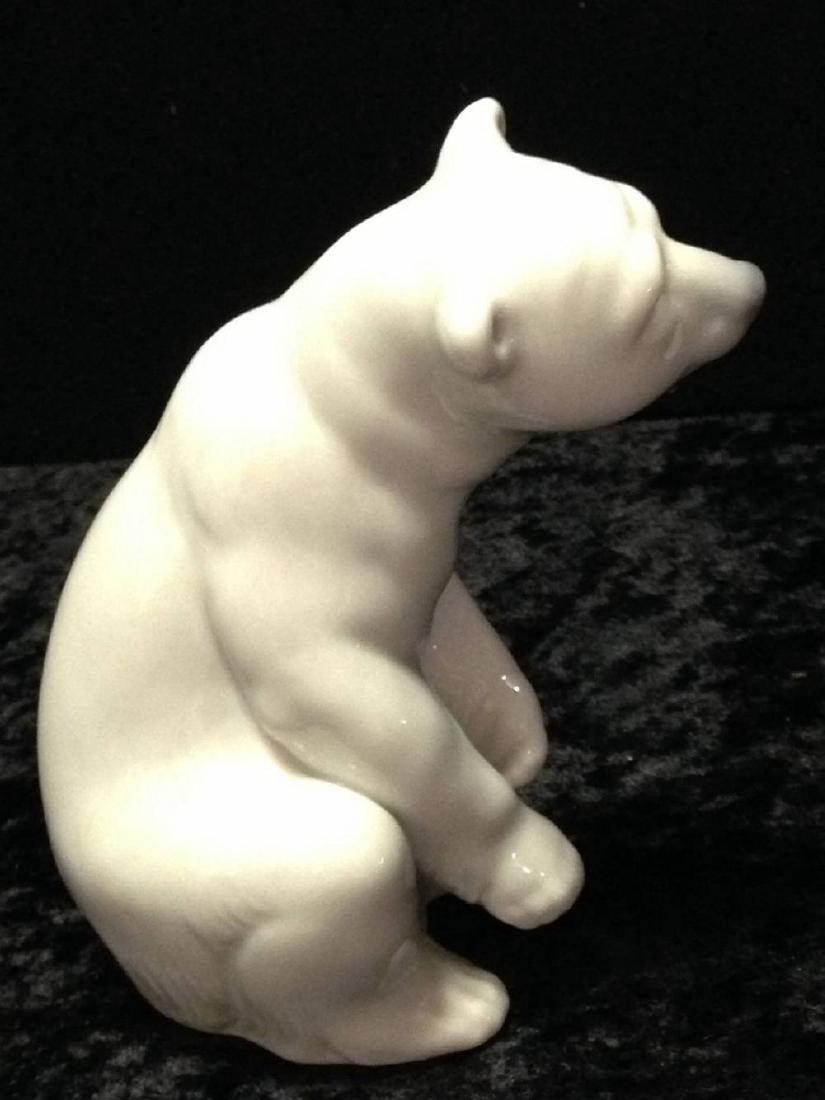 Lladro Polar Bear Sitting Approx 4.5 Inches Tall - 2